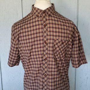 Billabong Plaid Short Sleeve Button Down Shirt